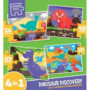 Dinosaur Discovery 4-in-1 Jigsaw Puzzle Set  f4