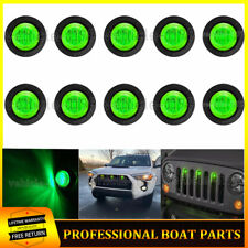 10X Round Raptor Style Green Lens Grille LED Lights For Toyota Tacoma Ford Jeep