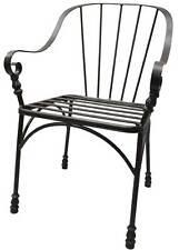 Stabiler Armlehnstuhl Gartenstuhl Metall Dunkelrostfarben Stuhl Sitzstuhl