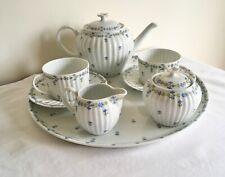 Vintage Limoges GDA France Porcelain Flowers Tea For Two Cabaret Tray Set
