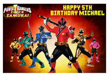 1 x Power Rangers 17x25cm rectangle personalised cake edible image topper