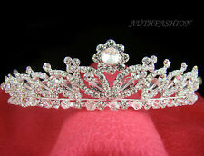 Bridal Tiara Head Band Swarovski Crystal Special Silver Plated Wedding Crown C03
