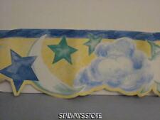 Home Trends Kids Star Sun Moon Clouds Pattern Cut Wallpaper Border 10 Yds