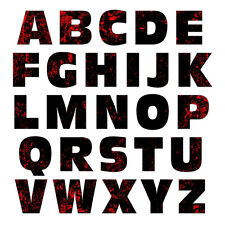 Alphabet Letters Uppercase Red Black Zombie MAG-NEATO'S™ Refrigerator Magnet Set