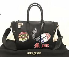 aafcf7ea2c ZADIG VOLTAIRE MUSE TRAVELING BAG BLACK LEATHER 535€ RRP LIMITED EDITION
