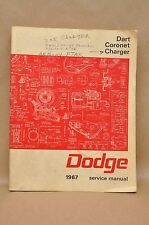 Vtg 1967 Dodge Charger Coronet Dart Service Repair Maintenance Diagrams Manual