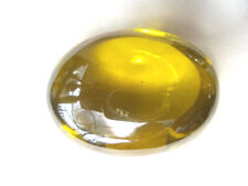 Super Power Lime Yellow Naga Eye Blessed Oval Cave Crystal Gem Amulet BIG SIZE