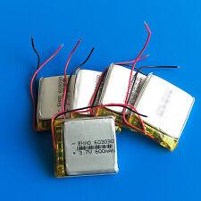 5 pcs 3.7v 600mAh 603030 Lipo Rechargeable Battery for MP3 DVD GPS Recorder PSP