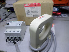 ABB FAULT CURRENT RELAY w/ CURRENT TRANSFORMER - FIRW66S - 10amp 300mA