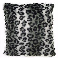 Fi709a Gray Leopard Wild Cat Thick Faux Fur Cushion Cover/Pillow Case*Custom Siz