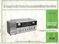Realistic DX-160 Shortwave Receiver Owner's manual : cat.NO.20-152 RadioShack