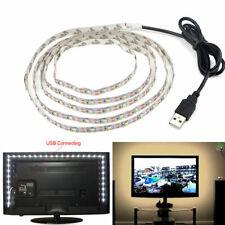 SMD 2835 Warm White LED Strip Light with USB Cable for TV Computer Desktop 5V
