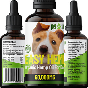 Hemp Oil For Dogs | Hip & Joint | Calming Support | Omega 3,6,9 Rich | 50,000mg