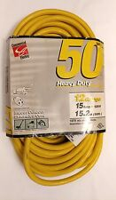 TPG - Commercial Electrical Extension HEAVY Cord AWG 12/3 YELLOW 15 Amp RV Mower
