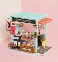 Rolife DIY Dollhouse Dessert Shop Handmade Miniature House Model Kits Gift Girls
