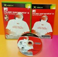 MTV Music Generator 3 - Microsoft XBOX OG Game 1 Owner Near Mint Disc Bought New