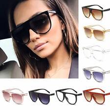 Women Fashion Flat Top Sunglasses Cat Eye UV400 Oversized Sunglass Eyewear 2019