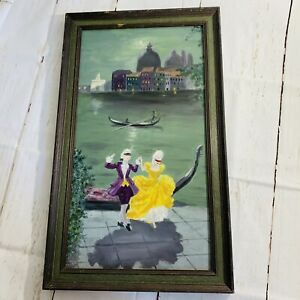 Gorgeous VENICE CANALS  Masked Ball Original painting Unsigned ONE OF A KIND