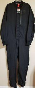 Nike Air Tech Men's Woven Black Jumpsuit Full Body Suit 898298-010 Men's Size L