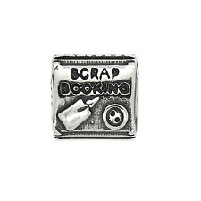 STERLING SILVER ZABLE SCRAP BOOKING EUROPEAN BEAD