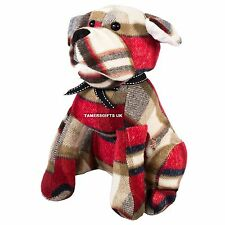 1.6 kg Heavy Red Tartan Decorative Dog Door Stop