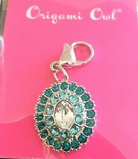 Authentic Origami Owl AQUA Vintage Dangle With Crystals by Swarovski New