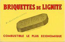BUVARD / PUBLICITAIRE / BRIQUETTE DE LIGNITE // UNION //