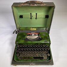 vintage SEIDEL & NAUMAN ERIKA GREEN CAMOUFLAGE typewriter portable box working