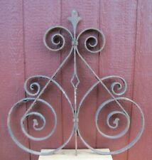 """Antique Wrought Iron Gate Fence Topper Architectural Hardware Element 31""""x32"""""""