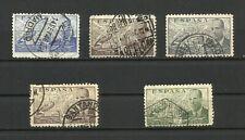 España, 1941/47 De la Cierva, lote de 5 sellos con matasellos diversos