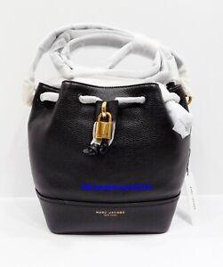 NWT Marc Jacobs Lock That Bucket Bag ~ Black ~ M0016099