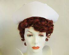 OFFICIAL US NAVY REGULATION UNIFORM COSTUME NURSE CAP HAT WHITE ADULT AUTHENTIC