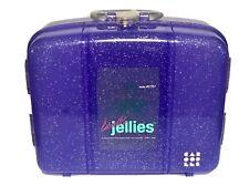 NEW Vintage CABOODLES Jellies Makeup Case purple glitter plastic organizer #2767