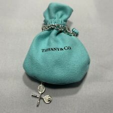 Tiffany & Co Sterling Silver Tennis Ball Racket Charm Bracelet