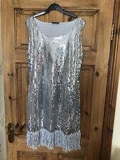 Silver Flapper Dress Size 10
