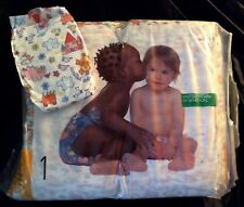 Vintage United Colors of Benetton Plastic Backed Diaper size 1 from Italy Reborn