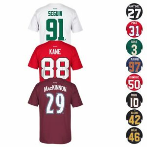 2017 NHL Reebok Official Premier Team Player Name & Number Jersey T-Shirt Men's