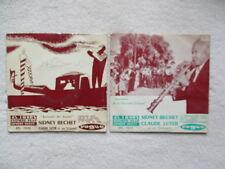 """2X45T 7"""" SIDNEY BECHET """"Souvenirs de la nouvelle orleans + romantic mr bechet"""" §"""