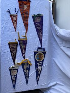 Vintage Lot 8 Pennants New York Jersey Tourist Attractions Cities State NY NJ