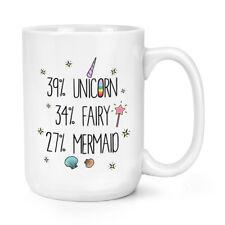39% Unicorn 34% Fairy 27% Mermaid 15oz Large Mug Cup - Big