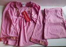 NWT American Girl Pajamas Size Small 7/8 Butterflies Pink Tag $42 2 Piece
