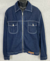 Coogi Australia Mens Denim Vintage Jean Jacket Size XL Full Zip Jean Jacket NWOT