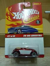 Hot wheels classics VW Bug Convertible Coccinelle Beetle Cabrio Rouge complet metal