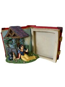 Disney Store 3D Open Storybook Resin Picture Frame Snow White Wishing Well