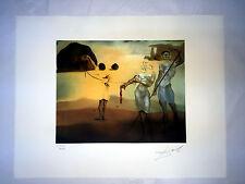 Salvador Dali Litografia 50 x 65 Bfk Rives Timbro a secco Firmata a Matita D157