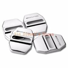 AMG 4pcs Stainless Car Door Lock Protective Cover Stickes KIT for Mercedes Benz