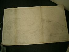 Vintage Admiralty Chart 1833 ENGLAND - RIVER MEDWAY sheet 1 1916 edn