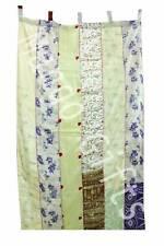 Indian Old Sari Patchwork Curtain Drape Window Decor Silk Sari Curtain White