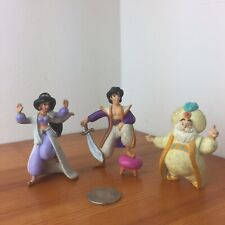 OTB loose figure lot Disney ALADDIN STORYBOOK PLAYSET JASMINE RARE SULTAN 2""