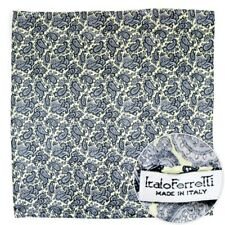 """Mens ITALO FERRETTI Yellow Silk 19"""" Hand-Rolled Pocket Square Ascot Handkerchief"""